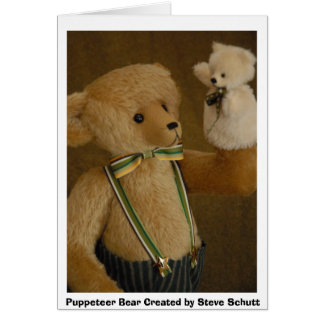 Puppeteer Bear  Card