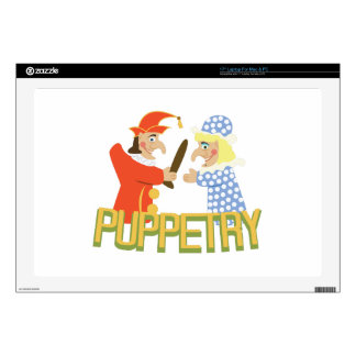 "Puppetry Decal For 17"" Laptop"