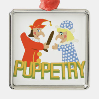 Puppetry Metal Ornament