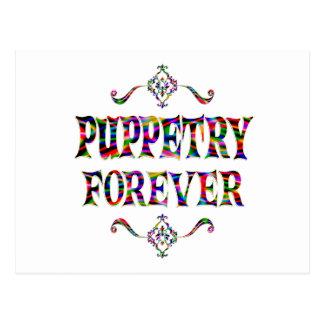 Puppetry para siempre tarjetas postales