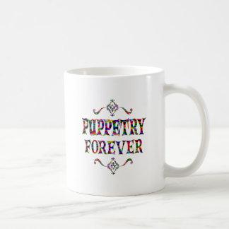 Puppetry para siempre tazas de café