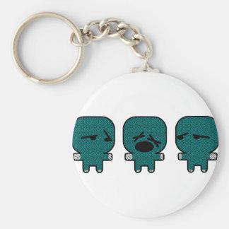 puppets basic round button keychain