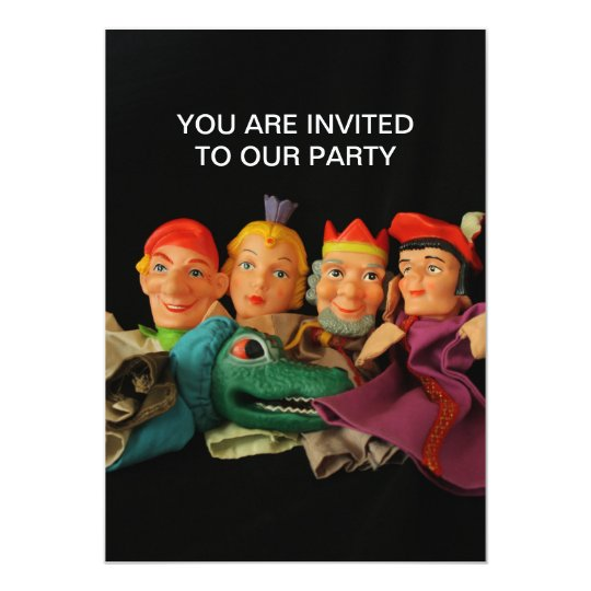 Puppets You Are Invited To Our Party Invitation