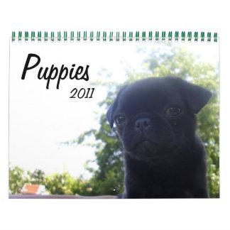 Puppies 2011 wall calendar