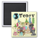 Puppies 3rd Birthday Bash Tshirts and Gifts Refrigerator Magnet