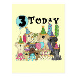 Puppies 3rd Birthday Bash Tshirts and Gifts Postcard