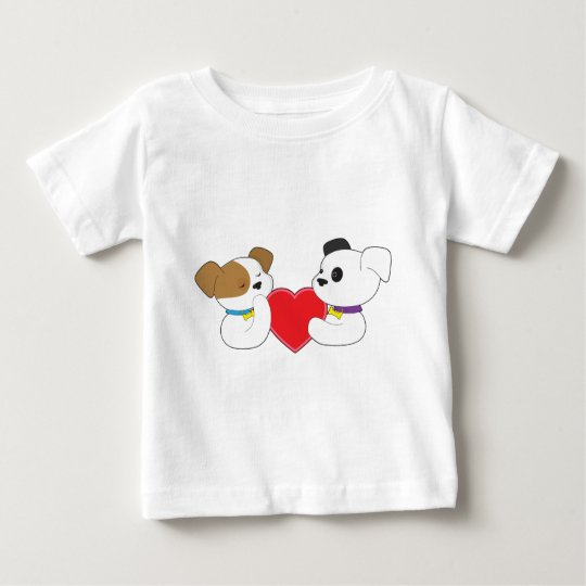 Puppies and Heart Baby T-Shirt