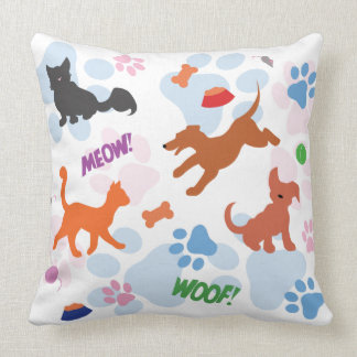 Puppies and Kittens Pillow