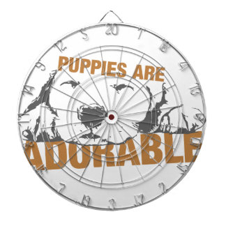 Puppies Are Adorable Dartboard
