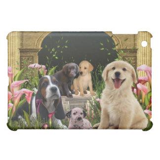 Puppies Courtyard Calla Lily Garden  iPad Mini Cover