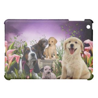 Puppies Dogs Calla Lily Garden  iPad Mini Cases
