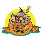 puppies in a pumpkin photo cutout