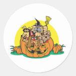puppies in a pumpkin sticker