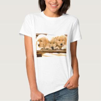 Puppies! - Ladies Baby Doll Shirt