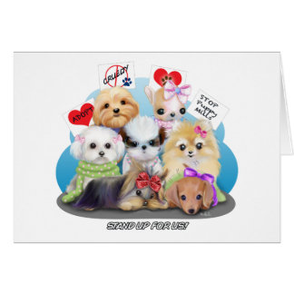 Puppies Manisfesction Greeting Card