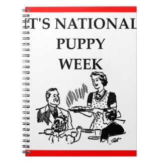 puppies note books