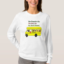 Puppies On School Bus T- Shirt