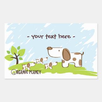Puppies Organic Planet Stickers