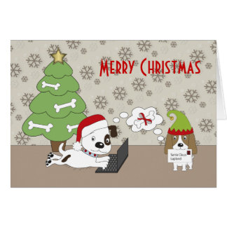 Puppies Patch and Kosmo letter to Santa Card