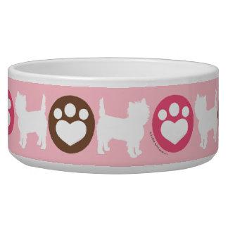 Puppies Paws Chocolate Cupcake Bowl