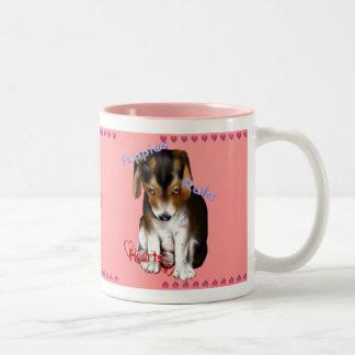 Puppies Rule Hearts Mug