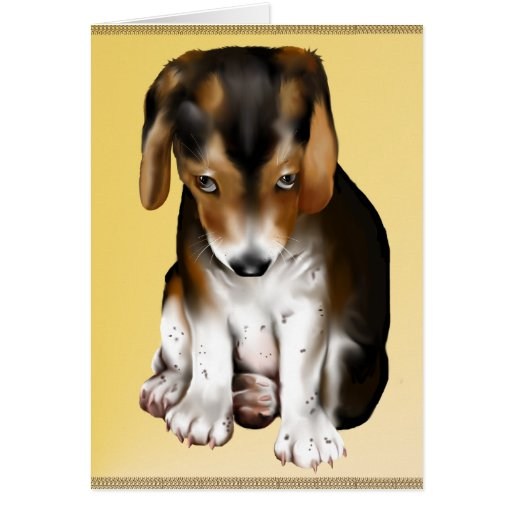 Puppies Rule Poster P Greeting Card