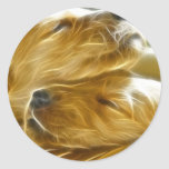 Puppies Sleeping Stickers