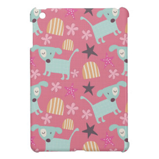 Puppies, Stars, and Flowers iPad Mini Cases