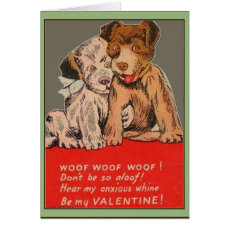 Puppies Vintage Valentine Greeting Card