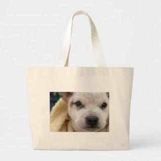 Puppy #1 jumbo tote bag