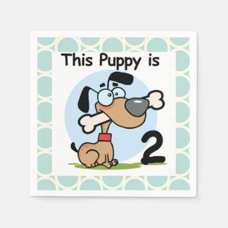 Puppy 2nd Birthday Paper Napkins