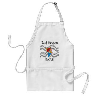Puppy 2nd Grade Rocks Tshirts and Gifts Adult Apron