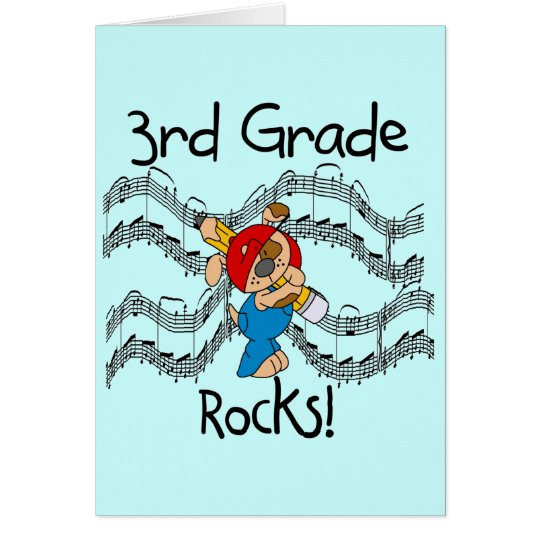 Puppy  3rd Grade Rocks Tshirts and Gifts Card