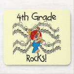 Puppy 4th  Grade Rocks Tshirts and Gifts Mouse Mats