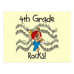 Puppy 4th  Grade Rocks Tshirts and Gifts Post Card