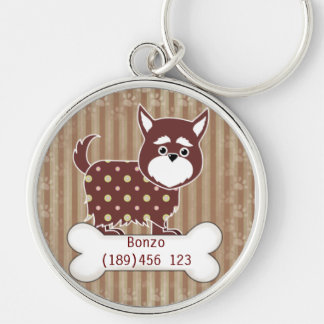 Puppy and Bone Dog ID Tag Keychain