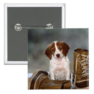 Puppy and Boots Pin