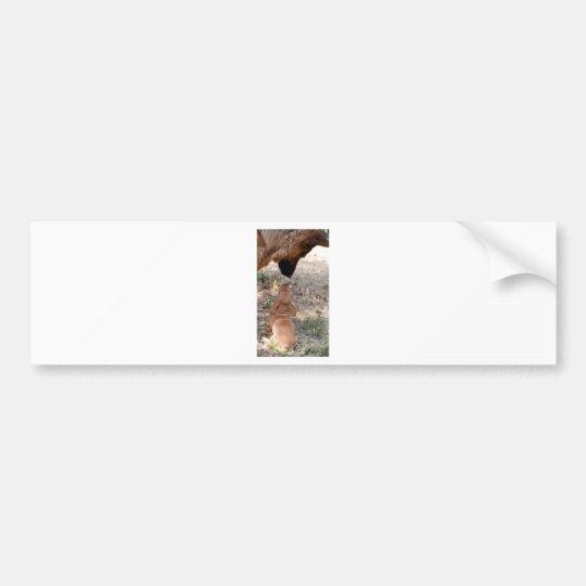 puppy and german sheperd bumper sticker