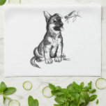 Puppy and Grasshopper Hand Towels