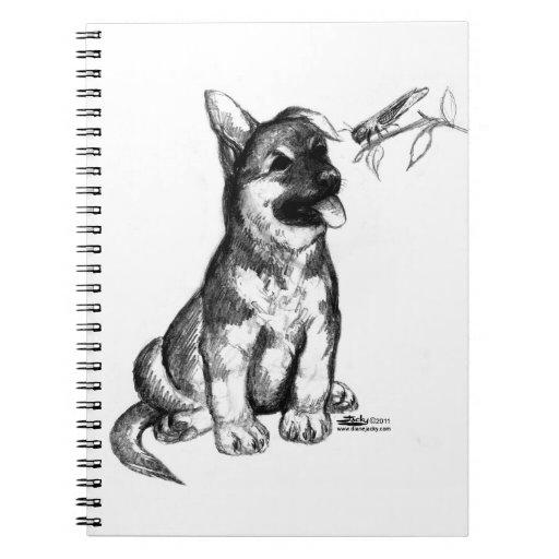 Puppy and Grasshopper Note Book