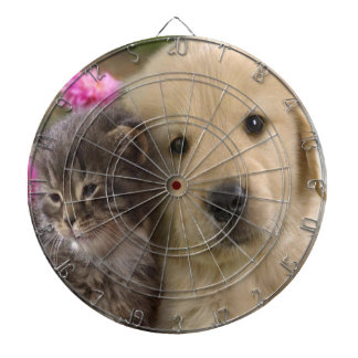 Puppy And  Kitten Dartboard With Darts