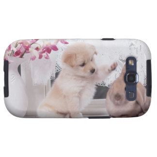 Puppy and Lop Ear Rabbit Samsung Galaxy SIII Cover