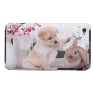 Puppy and Lop Ear Rabbit Barely There iPod Covers