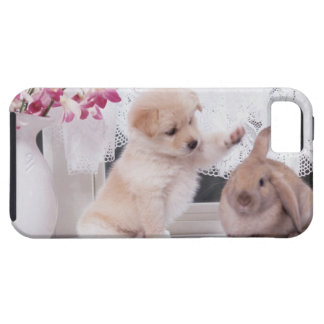 Puppy and Lop Ear Rabbit iPhone SE/5/5s Case