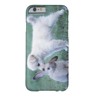 Puppy and Lop Ear Rabbit on lawn Barely There iPhone 6 Case