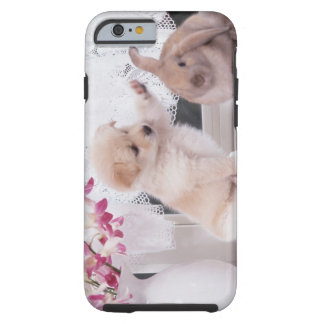 Puppy and Lop Ear Rabbit Tough iPhone 6 Case