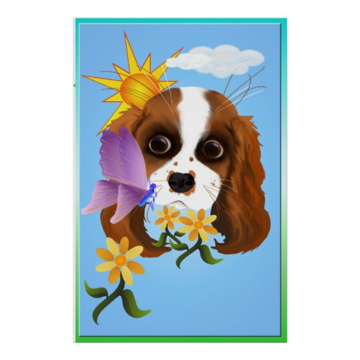 Puppy and Nature Large Poster