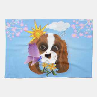 Puppy and Nature Towel