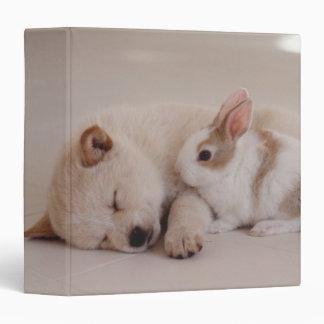 Puppy and Rabbit 3 Ring Binder