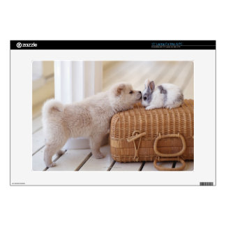 """Puppy and rabbit skin for 15"""" laptop"""